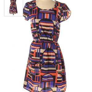 Paisly & Ivy mini dress geometric medium boho
